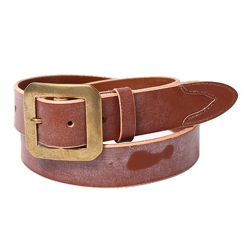 RUDE GALLERY BLACK REBEL SHAPED-PEAK BRIDLE LEATHER BELT <2nd>