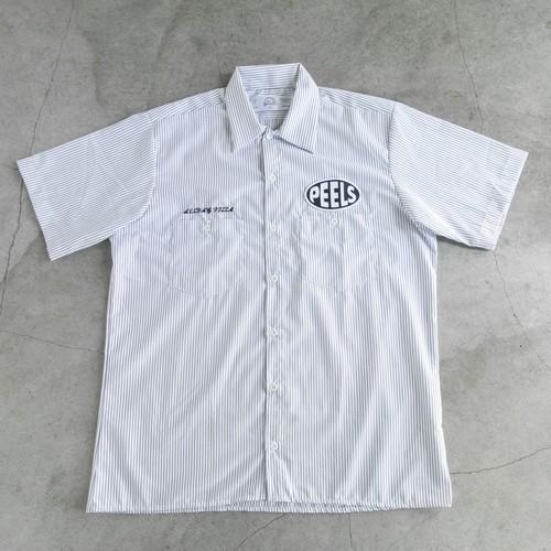 "Peels Oval Logo Striped Shirt ""ALLDAY PIZZA"""