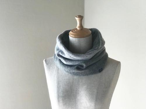 ふわふわ カシミヤのbi-colorスヌード  Gray