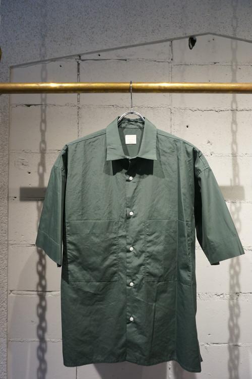 【Phlannèl】Summer Box Shirt col.Green