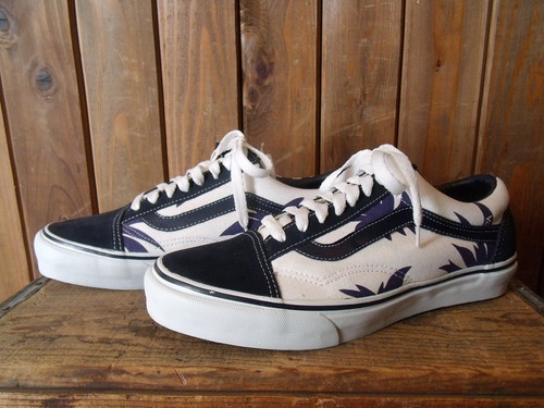 VANS★90s DEAD STOCK  【Old Skool】 <Nvy Palm Leaf J80>