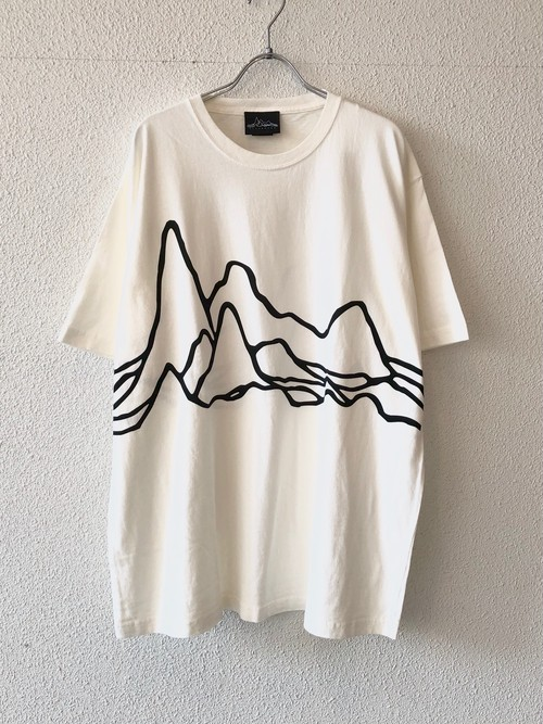 """【19023】PIGMENT DYE S/S Tee """"LARGE PULSAR"""" OFF WHITE"""