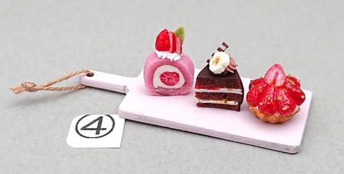 ④ケーキ三種トレイ