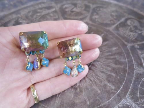 オーロライヤリング ヴィンテージビジュー vintage earrings clasp <ER-aupk>