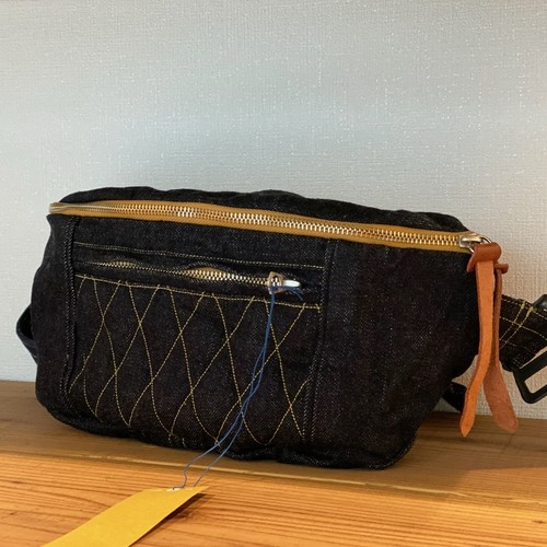 SLING BAG <DENIM> (INDIGO YELLOW-st) /GERUGA