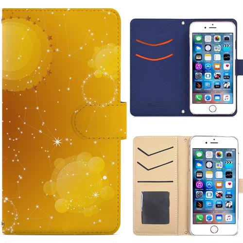 Jenny Desse iPhone 8 ケース 手帳型 カバー スタンド機能 カードホルダー イエロー(ホワイトバック)