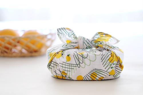 ハンカチ・お弁当包み「バスケット」黄色