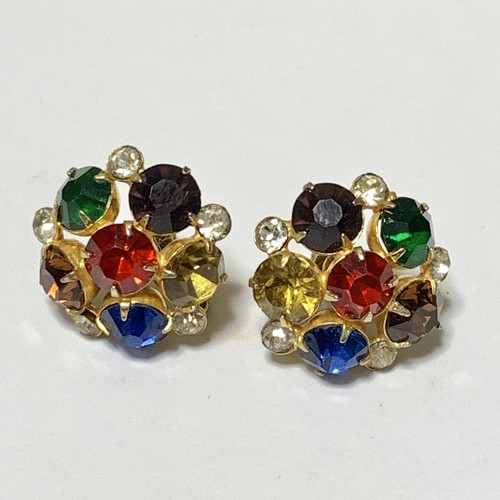 Vintage Watermark Multicolor Bijoux Earrings
