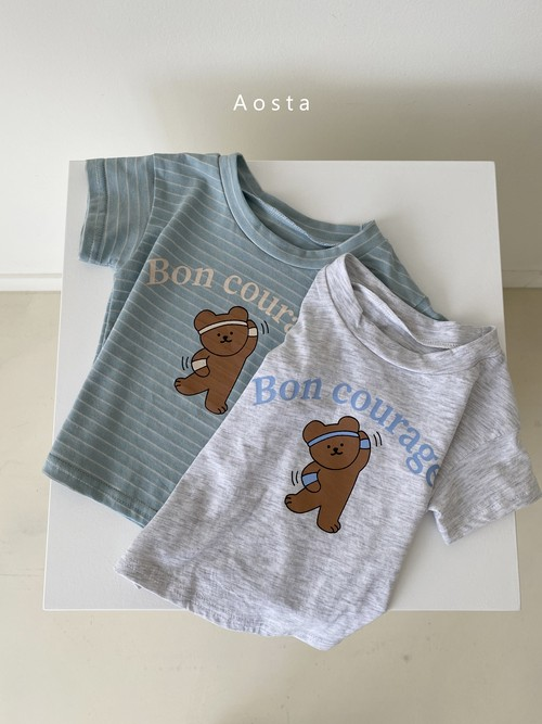 【予約販売】home bear T-shirt〈Aosta〉