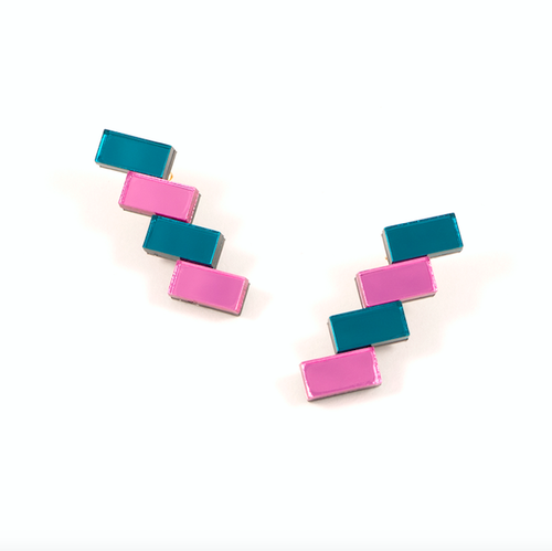 "MYSTIC FORMS""Geometric Perspex Statement Mini Earrings""   FORM033 ピアス"