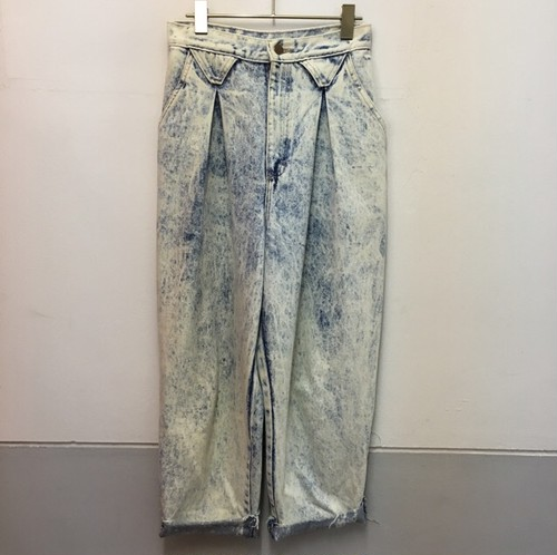 chemical cropped denim