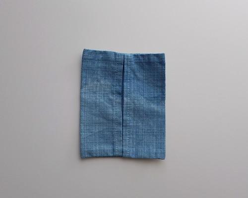 草木染め ティッシュケース 藍染め