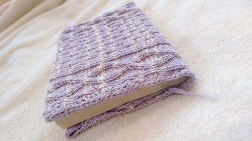 ブックカバー 手編み 文庫本サイズ