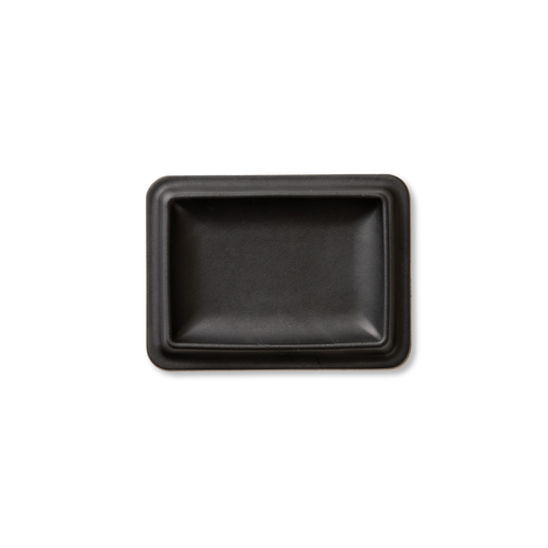 colm Leather Tray S Black