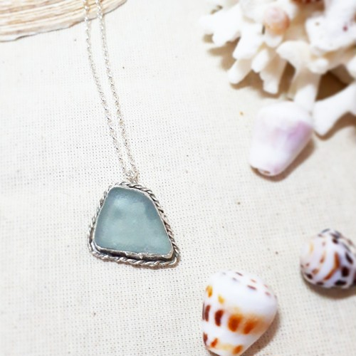 【silver925】seaglass necklace