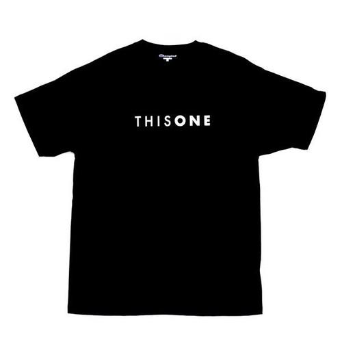 THISONE BASIC LOGO TEE (BLACK)