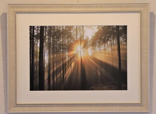 靄の中に太陽の光がさすとき <A3ノビサイズ>オリジナル額