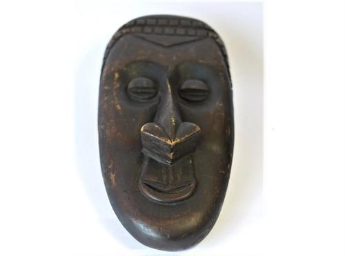 アフリカ 木彫仮面 ネイティブ スピリチュアルアート 古民具壁掛飾り