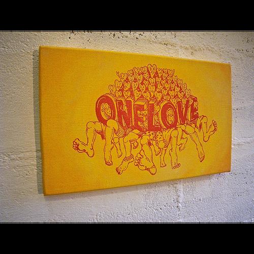 ONE LOVE キャンバス