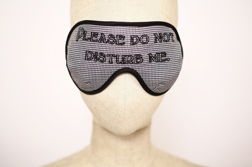 "まつエクしてても着用OK! Solid EyeMask ""Please Do not Distaurb Me / Glencheck"""