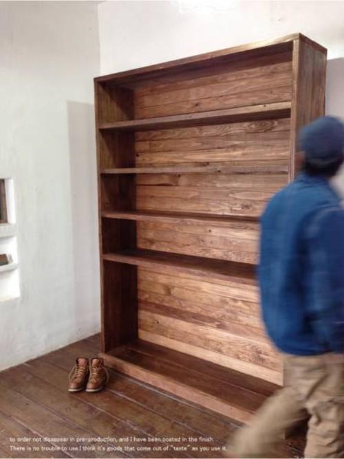 数量限定 A-195 古材 棚 シェルフ 飾り棚 カップボード 衣装棚 什器 キッチン棚 オーダーメイド