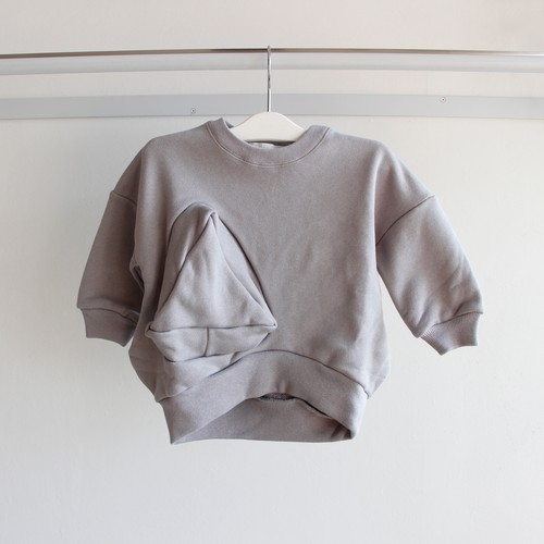 《UNIONINI 2019AW》◯△ sweat shirt / gray / 1-10Y