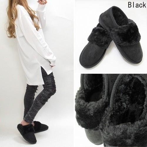 ファー ムートンボア 靴 シューズ ブーツ 極上の履き心地★ ブラック