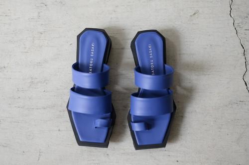 SATORU SASAKI / Square toe sandals (blue)