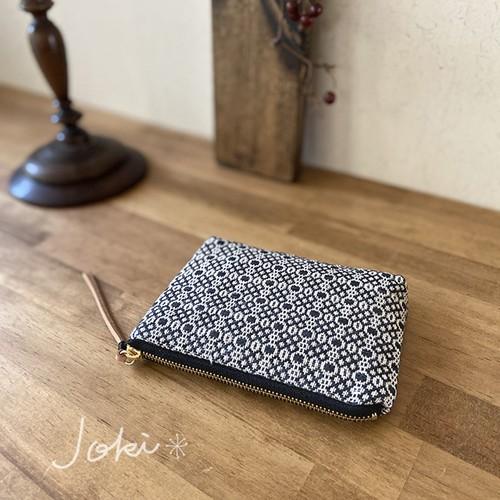 pouch[手織りミニポーチ]ブラック