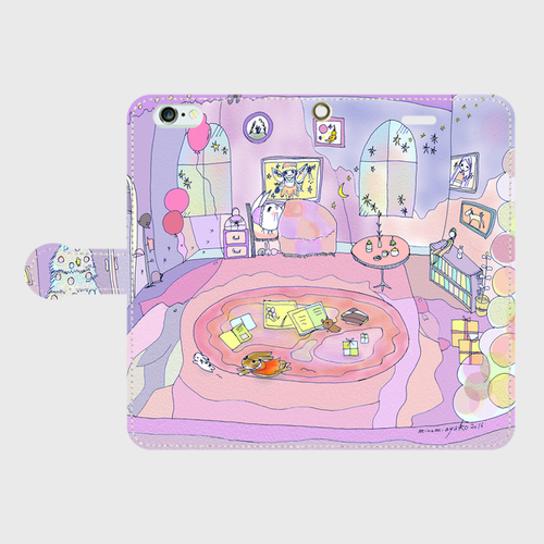 iPhone6Plus/6sPlus ママのお部屋 手帳型スマホケース