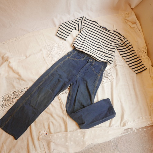 French 50's Kids Denim Outfit #2