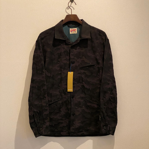 CURVE POCKET SHIRTS <CAMO> (GRAY-BLACK) /GERUGA