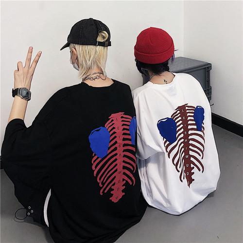 【トップス】原宿風レトロラウンドネック半袖Tシャツ27164810