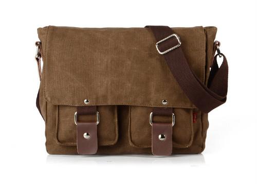 Casual Canvas Shoulder Messenger Bag Vintage Bag Handbag カジュアル ハンドバッグ メッセンジャーバッグ ビンテージ (YYB99-1938183)