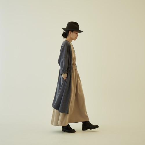 women's melange gown coat