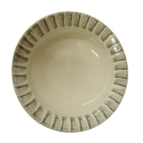 小石原焼 7.5寸兜皿 刷毛目 上鶴窯