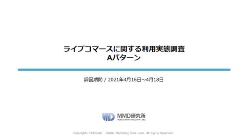 ライブコマースに関する調査/ライブコマースに関する利用実態調査 Aパターン