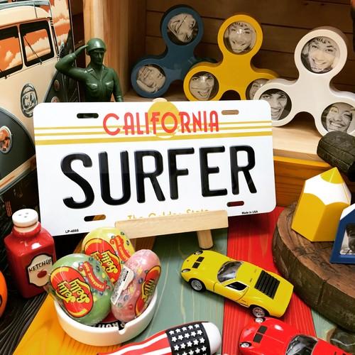 """【22-0200】ガレージプレートS """"SURFER"""""""