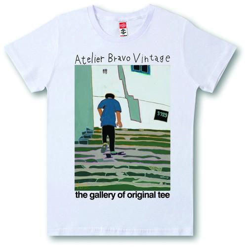 ATBR-V-SST-050 Tシャツ シティ・ブ・サイドの街並