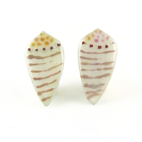 イモガイミニ(ストライプPink) Pierced Earrings