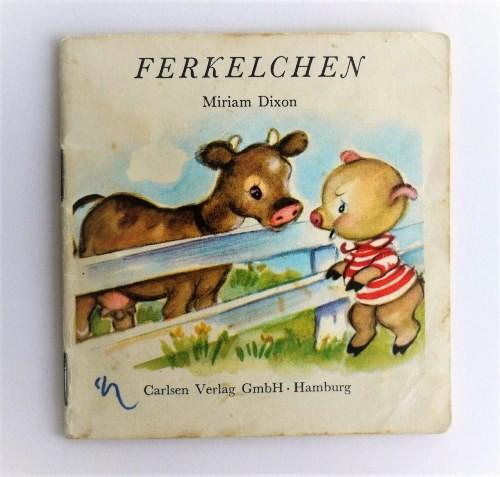 ヴィンテージミニ絵本 「子豚ちゃん」 FERELCHEN    手のひら絵本 pestalozzi-verlag
