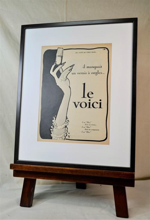 Gruau Diorネイルラッカー monochromeポスター
