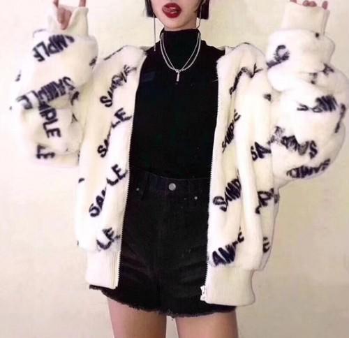 SMサンプルファーフリースジャンパー アウター 韓国ファッション