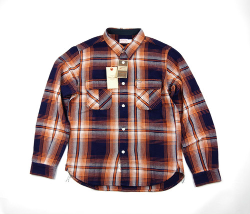 TROPHY CLOTHING  Logger Indigo Check Shirts