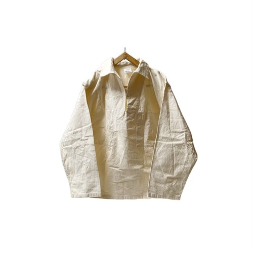 """70's """"FRENCH VINTAGE"""" COTTON CANVAS FISHERMAN SMOCK"""