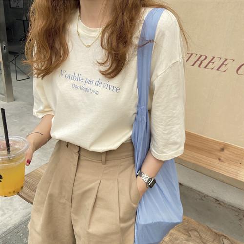 レタリングカジュアルTシャツ RD9023