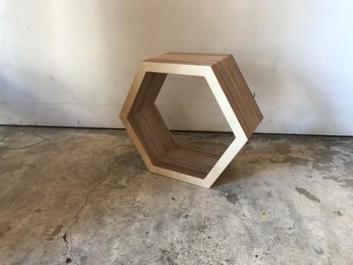 六角形の棚(大)単品 ロシアンバーチ
