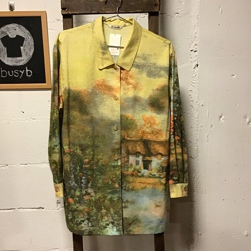 DOODLE yellow water color shirt