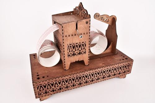 木箱の手回しオルゴールセット(オルガニート)