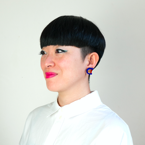 "MYSTIC FORMS ""Geometric Perspex Statement Mini Earrings "" ピアス"